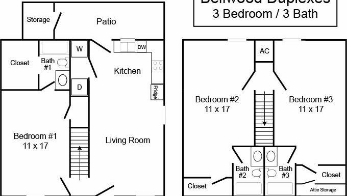 Bellwood Duplexes 3/3 TH