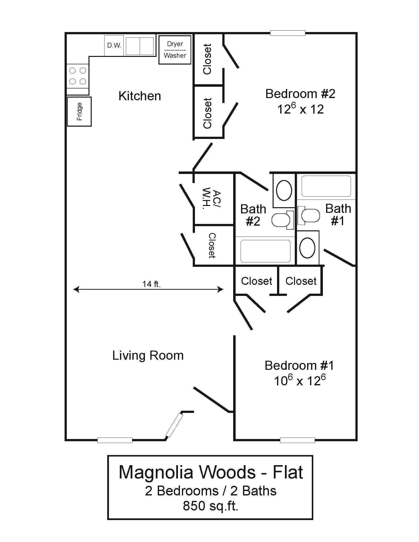 Magnolia Woods 2/2 Flat