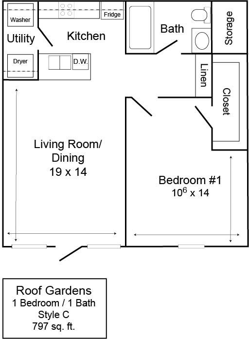 Roof Gardens 1/1 C